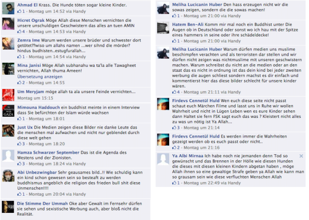 salafisten muslime facebook hetze